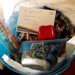 This is the gift basket the bride to be received... How thoughtful!