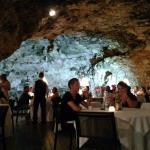 Vista para dentro da caverna
