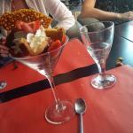 Verrine fraise framboise