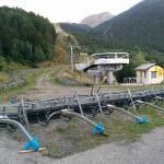 The ski lift beside the hotel