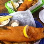 Beer-battered haddock + chips