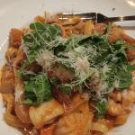 Fettucini with seafood