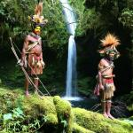 Waterfalls near the Ambua Lodge