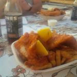 Delicious fish and chips in friendly atmosphere