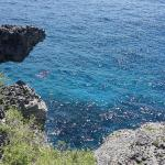 view of the cliffs where you can snorkel
