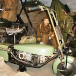 Moto utilisée par les parachutistes de la 2e Guerre Mondiale, Musée Épopée de la Moto