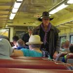 Bandit on the train from Grand Canyon train