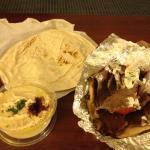 Gyro and Hummus to go