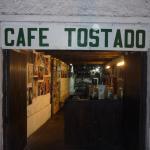Entrada de cafe Tostado