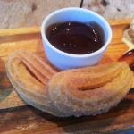 Cinnamon Churros with Warm Chocolate Dipping Sauce