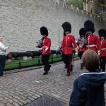 The changing of the guards at Tower of London
