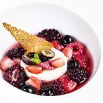 Ratafia de fruits rouges et crémeux vanille