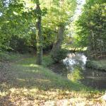 川が流れる庭