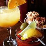 Brunch Mimosa, Boathouse Bloody Mary & Best Buns Blueberry Muffin & Sticky Bun