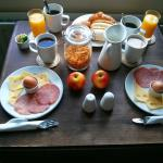 The lovely breakfast, served in our room.