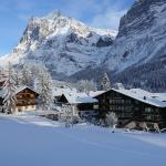 Wetterhorn and Grindelwald in Winter
