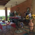 portico dove viene servita la colazione