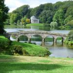 Stourhead garden and bridge