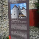 Panneau d'info sur le château