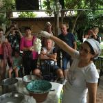 Our demonstration of the cheese making