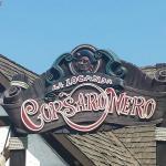 Insegna della Locanda del Corsaro Nero ristorante interno al parco