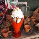 A jaffa cake sundae in Stewarts Christchurch's coffee shop