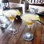 a mango cocktail