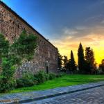 Una splendida foto al tramonto del Convento