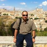 Wit Toledo city as a backdrop