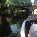 View from the boat - Bruges Canal Boat Tour