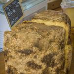 I was told this was the oldest cheese in the market that day. I didn't buy it, I did smell it! :