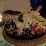 Chapa de picanha ao molho gorgonzola