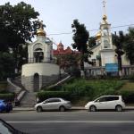 Общий вид с колокольней с противоположной стороны Светланской улицы