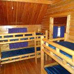 Bunks in 2 room kabin.