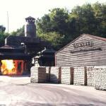 Jack Daniel's rick yard - burning sugar maple to make charcoal