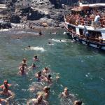 swim in hot springs