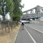 tratto pista ciclabile sulla Marna direzione Parigi