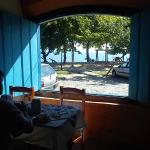 café da manhã, vista para praia