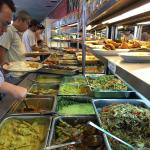Awesome spread, delicious food at affordable prices. Best of all, eating with the locals, what m