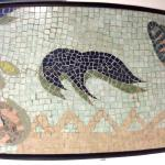 Greek mosaic artwork resurfaces in a SIN SMRT pillar