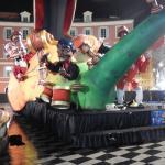 enfeites de carnaval na praça