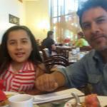 Mi hija menor y yo.