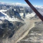 Flight over just one of many glaciers.