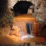 Water gushing from the Roman bath