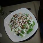 Turkey pancetta salad( too much dressing)