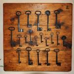 Old keys in reception.