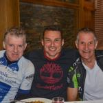 Cyclists appreciating fine food at O'Loughlins