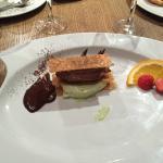 Mille feuille chocolat pistache