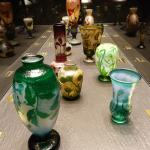 vases et coupes significatives de la production Daum