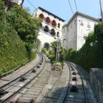 Llegada del funicular a la Cita Alta